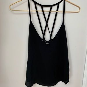 Tops - NEW Pretty black strappy tank Small